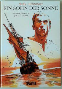 Cover zeigt Segelschiff und den Helden des Comics