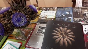Messestand mit Büchern, Elisabeth Sandmann