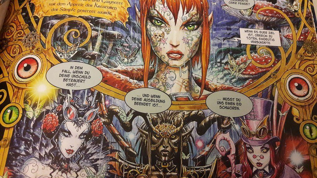 Ausschnitt einer Comicseite, die mehrere Feen zeigt