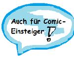 Sprechblasenlabel, das Comics kennzeichnet, die auch für Comic-Einsteiger geeignet sind