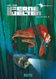 """Cover des Comics zeigt U-Boot, das von einer riesigen außerirdischen """"Moräne"""" bedroht wird"""