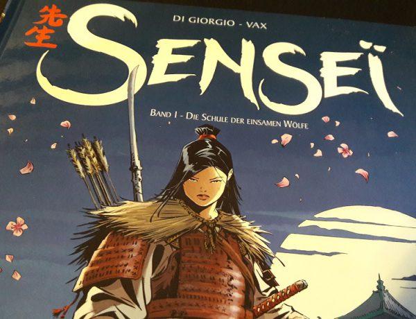 Ausschnitt vom Cover zeigt Samurai und Titelschriftzug