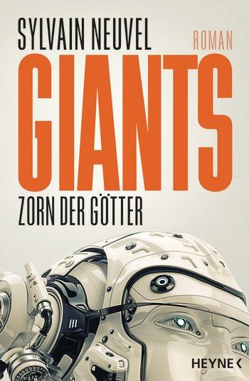 Buchcover des Romans zeigt einen Roboterkopf