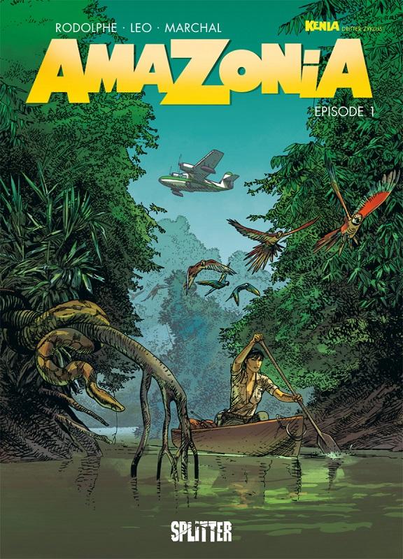 Cover, das eine Frau auf einem Boot mitten im Dschungel zeigt