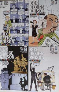 Vier Comics im Quadrat angeordnet.