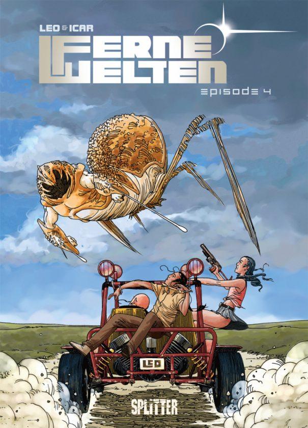 Comiccover zeigt einen hummerähnlichen Alien, der ein Auto anzugreifen scheint