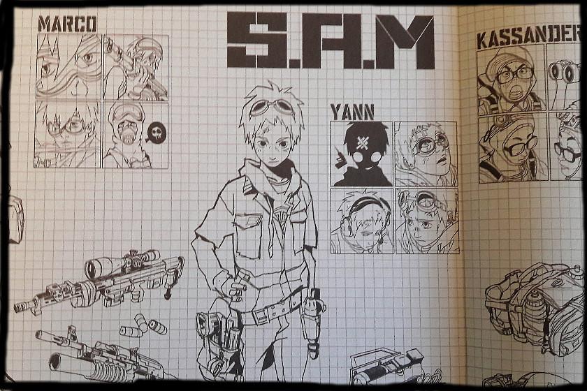 Schwarz-weiße Zeichnungen / Sketches von Yann