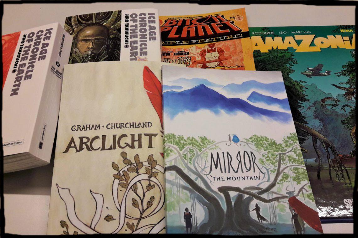 Mehrere Comics nebeneinander