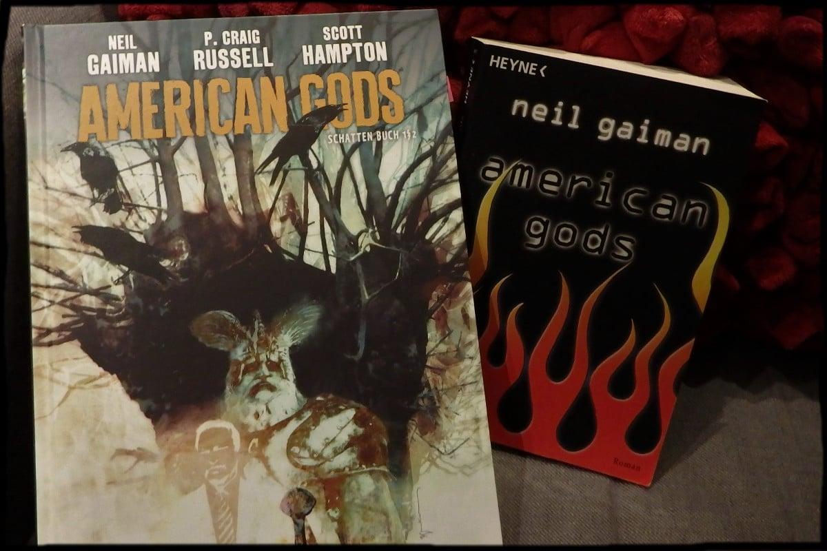 American Gods-Comic neben dem Roman American Gods