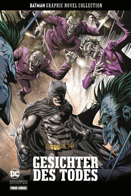 Comiccover mit Batman im Mittelpunkt und Villains wie Joker und Twoface um ihn herum