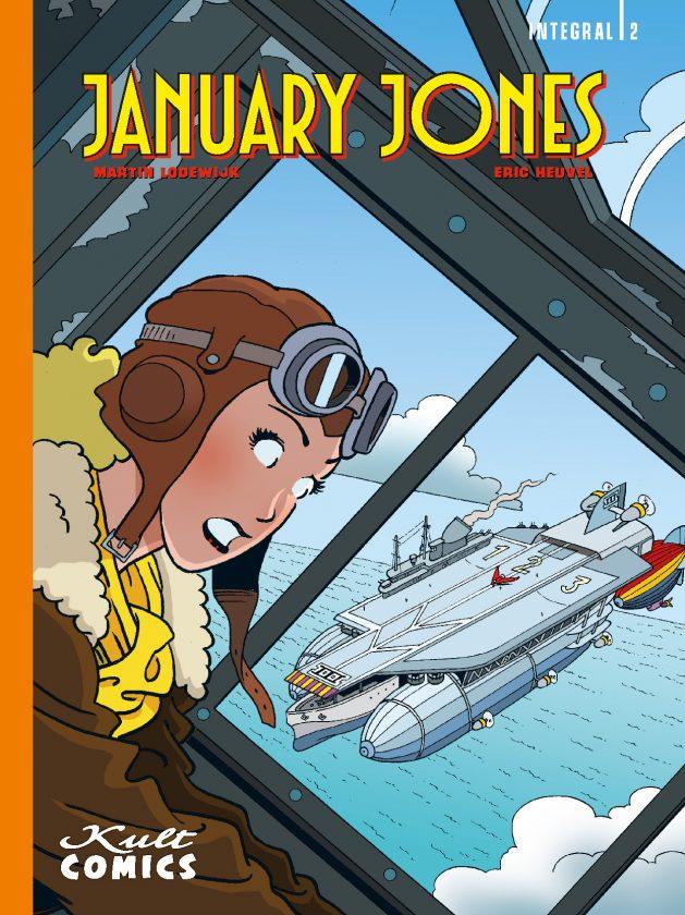 Comiccover. Die Fliegerin January Jones mit Fliegerbrille im Vordergrund