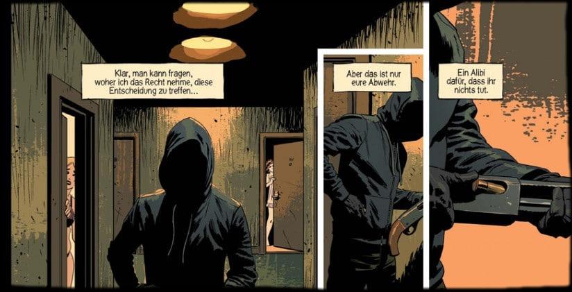 Ausschnitt - drei Panels von Seite 6