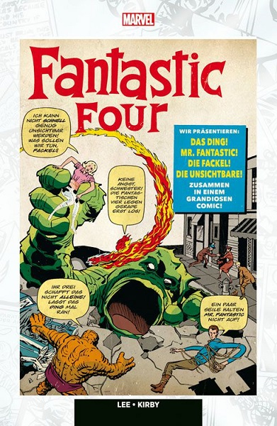 Cover des Reprints des ersten Fantastic Four-Heftes.