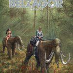 Cover zeigt wie zwei Menschen auf Elefantenähnlichen Wesen durch einen Dschungel reiten