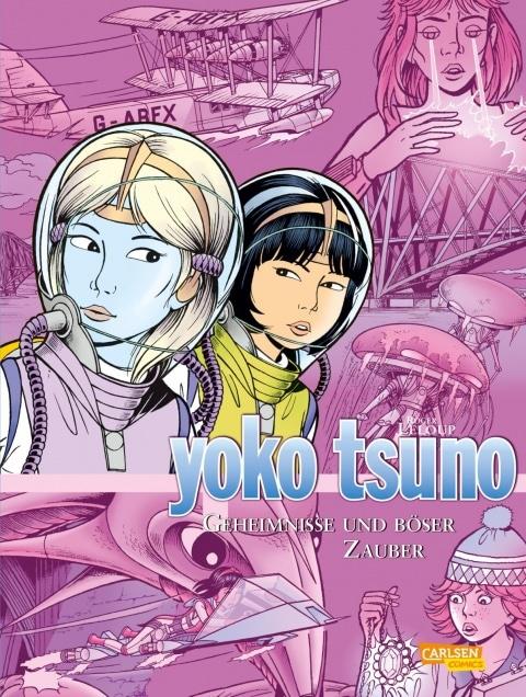 Comiccover in pink Farbe mit Yoko Tsuno