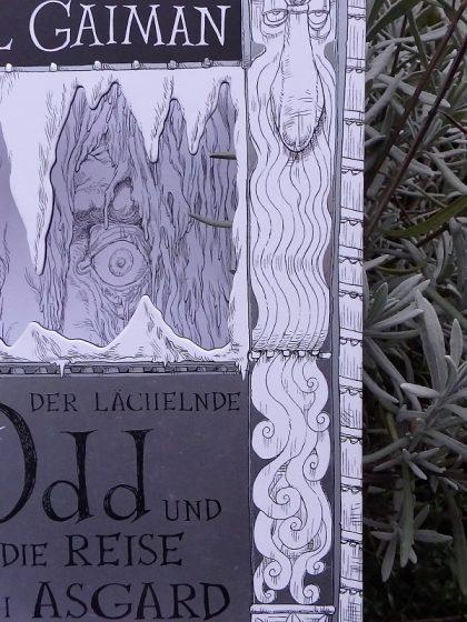 Buchcover vor einer Lavendelpflanze