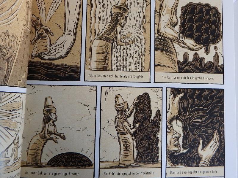 sechs Panels von Seite 9 des Comics, zeigen die Entstehung Endikus