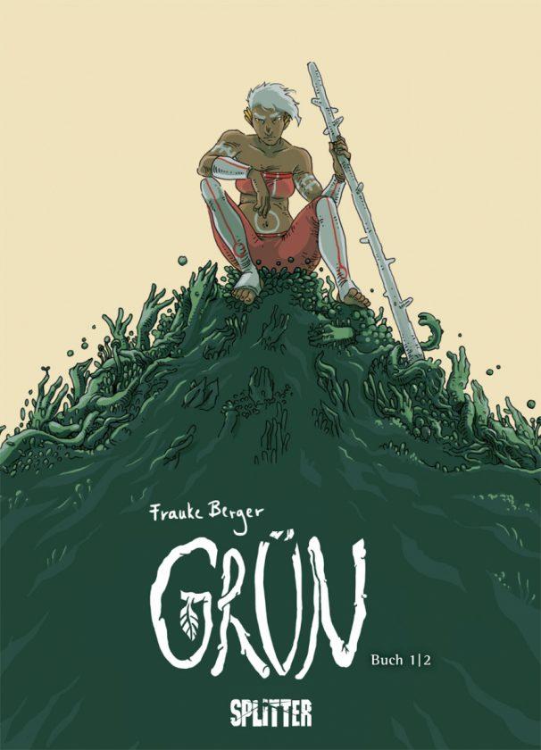 """Comiccover auf dem ein Krieger oben auf einem grünen """"Berg"""" sitzt"""