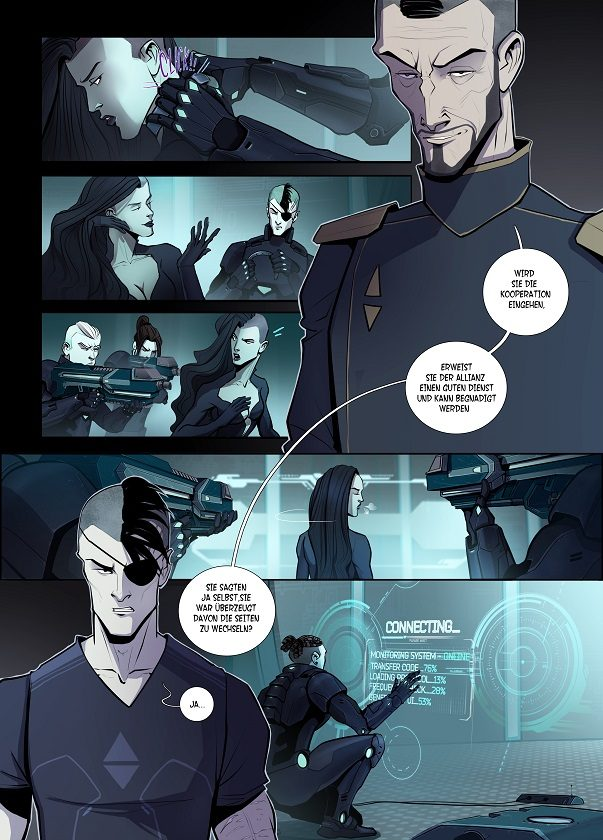 Eine komplette Comicseite aus RADIUS2