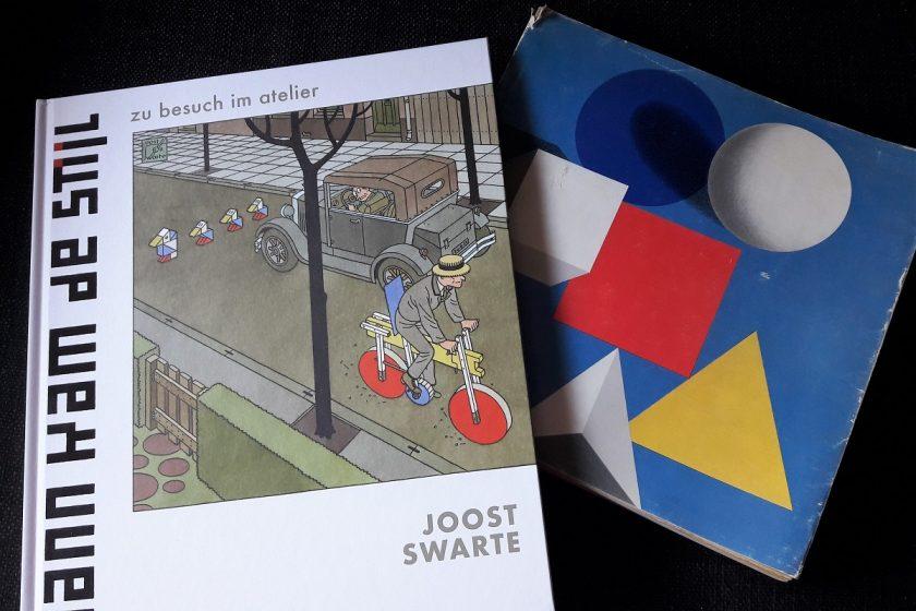 Buch Dann kam de Stijl neben einem alten Paperback über Bauhaus