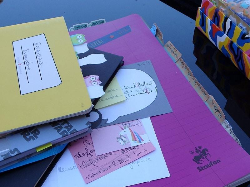Blogplanungsbücher verschiedene Hefte und Notizbücher