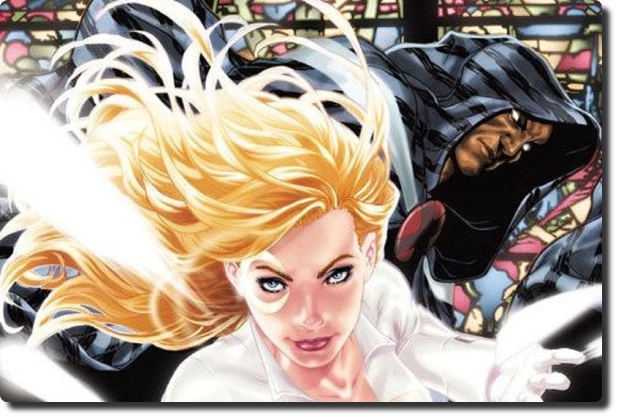 Teil des Covers des Comics, zeigt eine blonde Frau