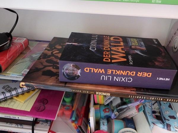Rezensionsstapel zeigt ein Buch und einen Comic, die aufeinander liegen