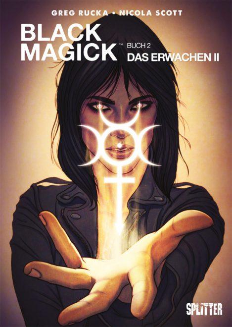 Cover zeigt die Protagonistin mit einem magischen Zeichen