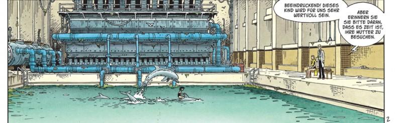 Delphinbecken in der Fabrik