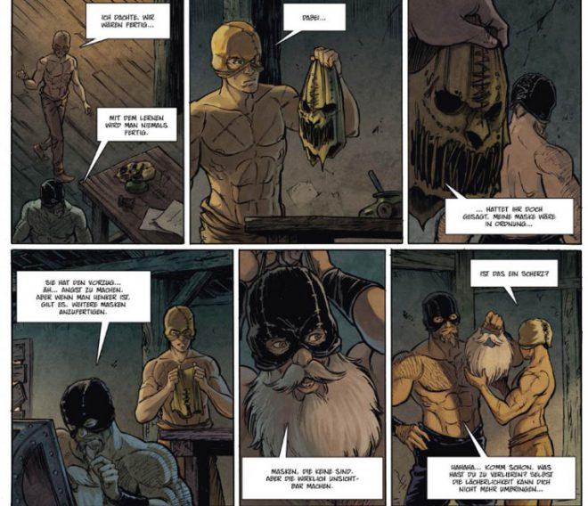 Der Henker 2 Auszug Seite 6 zeigt den Henker beim Maskieren