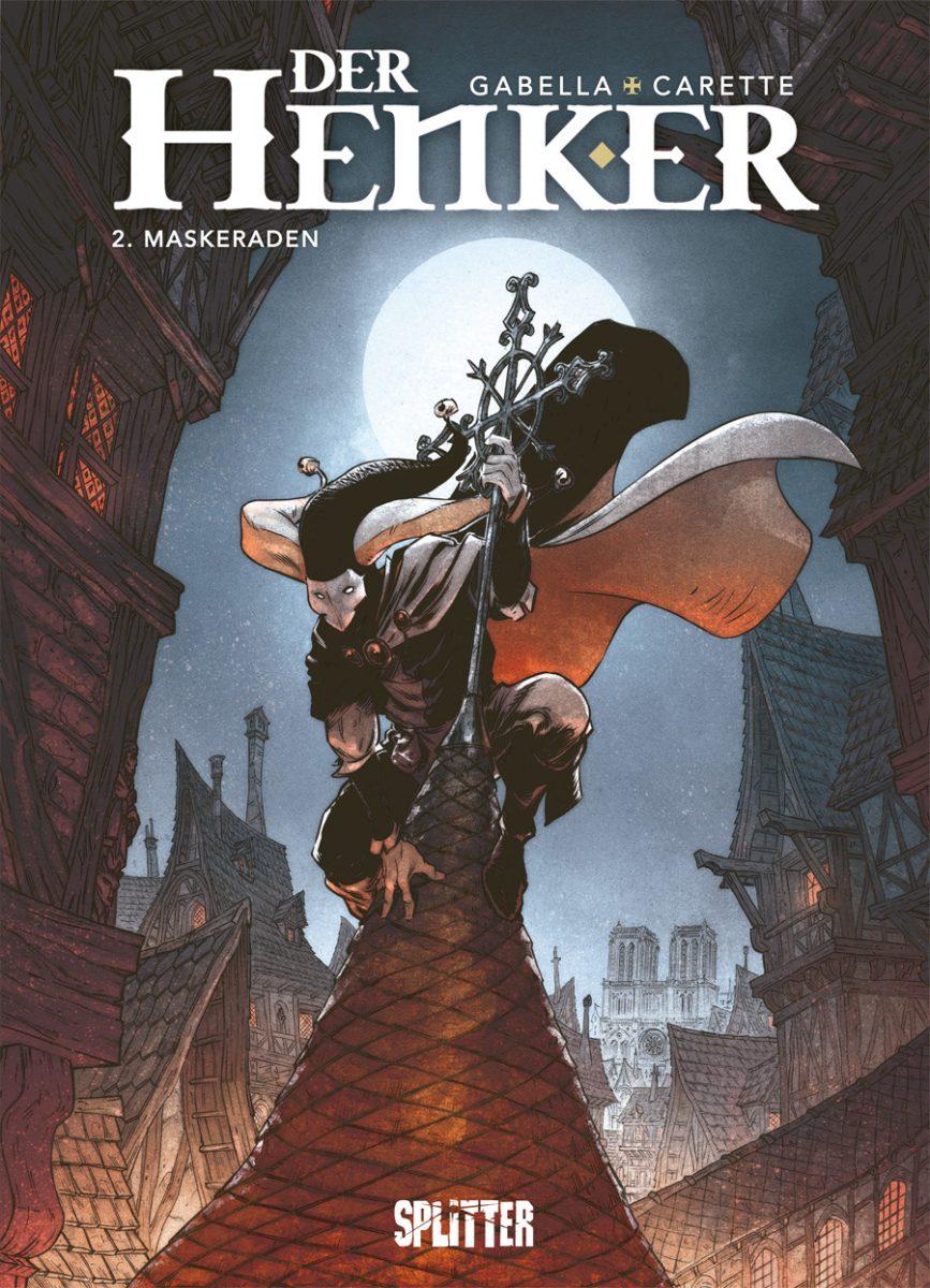 Der Henker 2 Cover zeigt einen Gaukler auf einer Turmspitze sitzend
