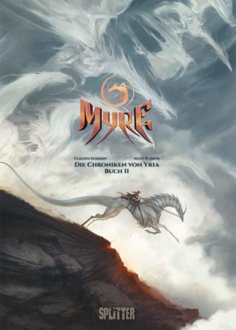 Cover des Comics zeigt Wolken, die Drachen ähneln und die Protagonistin reitend auf ihrem Drachen