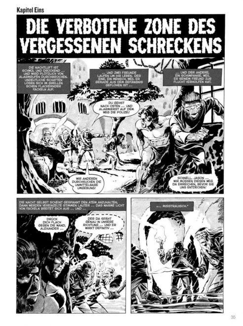 Planet der Affen Archiv Band Eins, Seite 35. Leseprobe