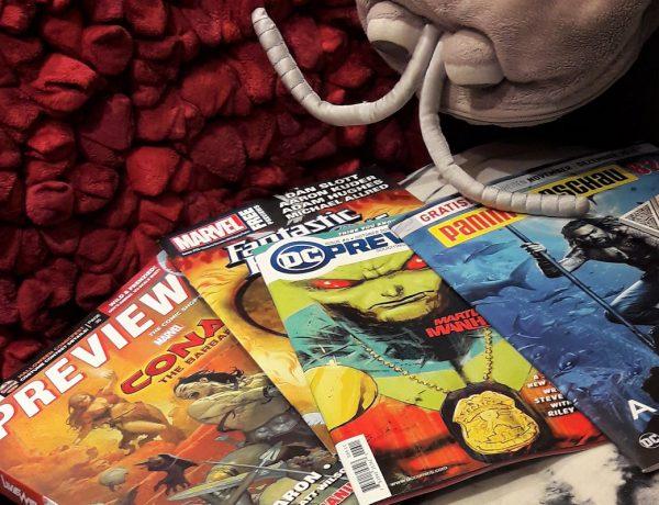 Universum der Comics 3 Titelbild zeigt einen Previews-Katalog und auch weitere Kataloge