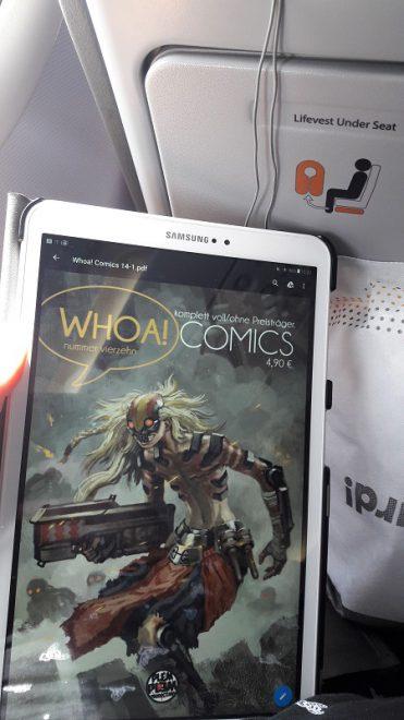 Whoa Comics 14 - Lesen im Flugzeug