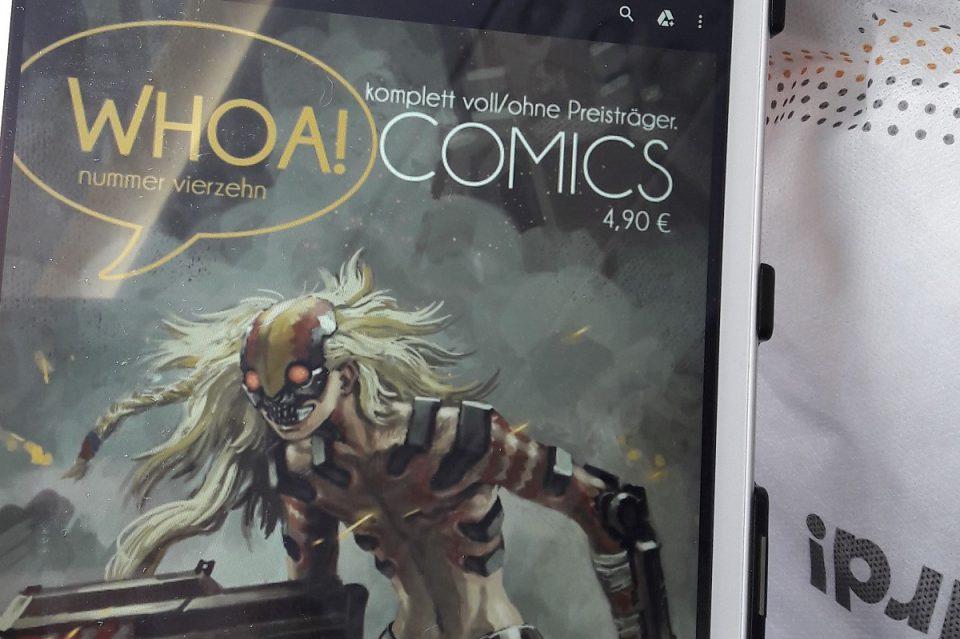 Whoa Comics 14 Titelbild - Comic auf meinem Tablet