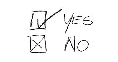 Yes No zum Ankreuzen - Grafik