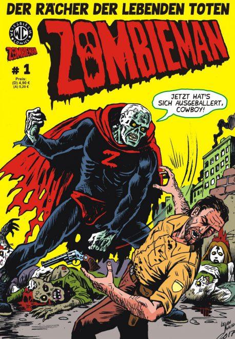 Zombieman 1 Cover zeigt halt den Zombieman