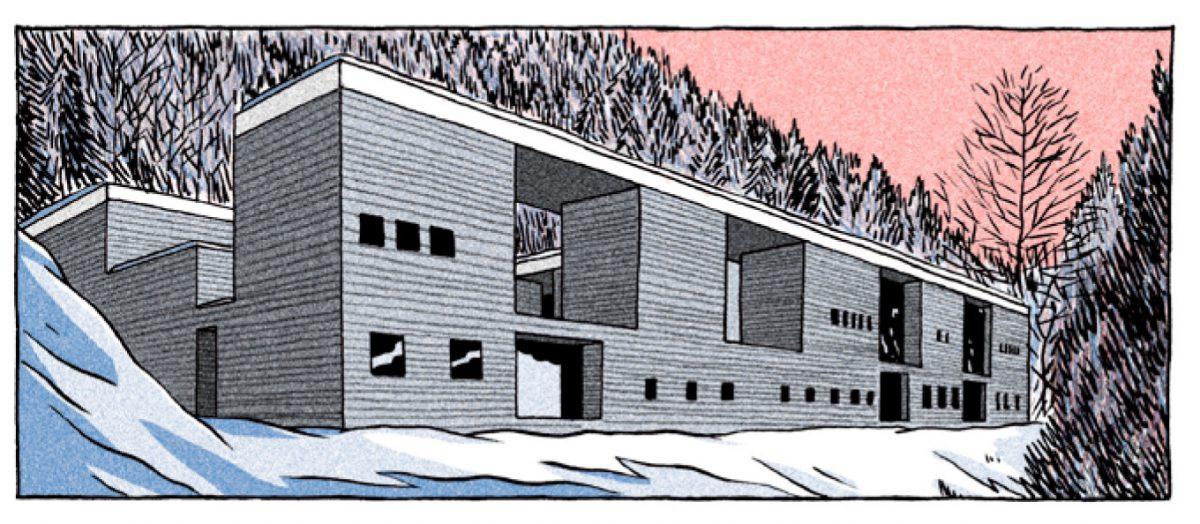 Der Magnet - Die Vals Therme - Comiczeichnung von Harari