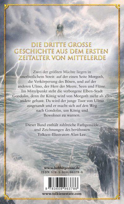 Der Fall von Gondolin Buchrückseite mit Inhaltsbeschreibung