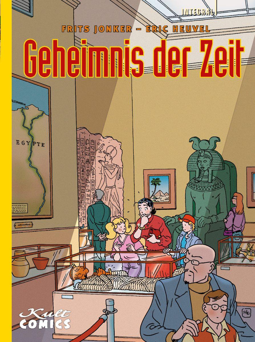Cover zeigt eine Familie, die in einem Museum eine Mumie im Glaskasten betrachtet