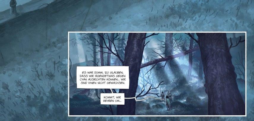 Auszug Leseprobe, Cyan Seite 16 Wald in blau