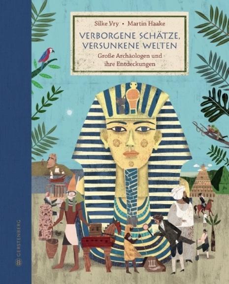 Cover des Buches. Zeigt eine Illustration der Totenmaske eines Pharao