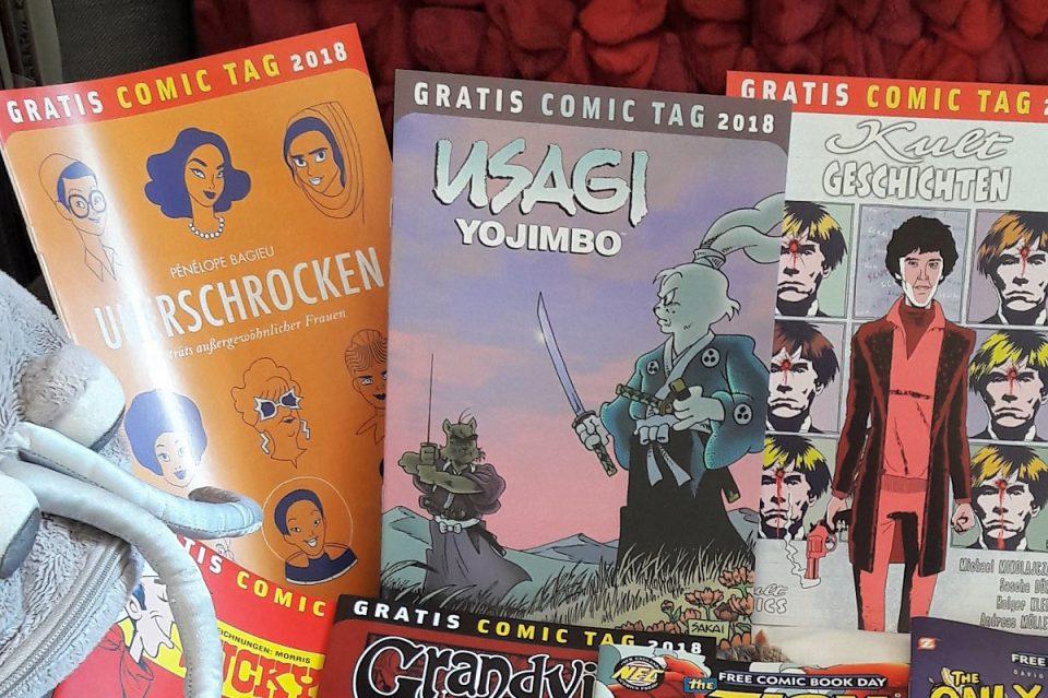 Einige Gratis Comic Tag Hefte von 2018