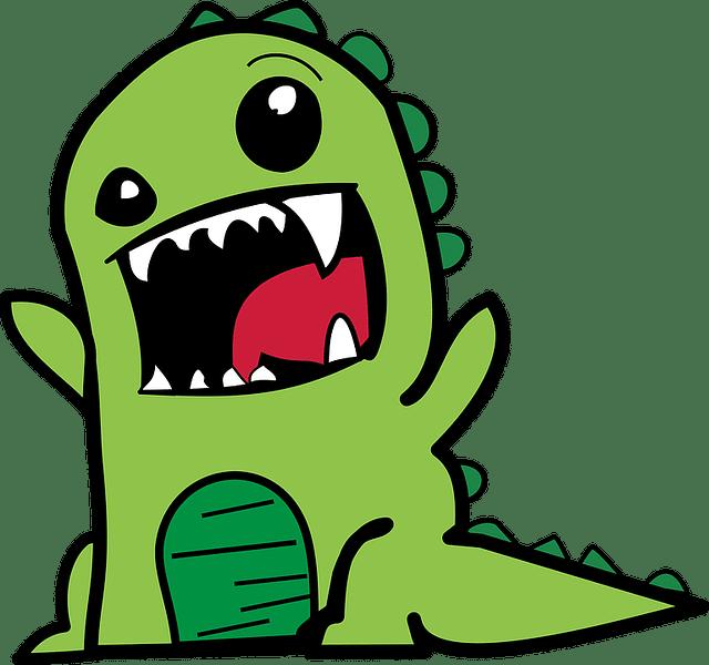 Dino brüllend