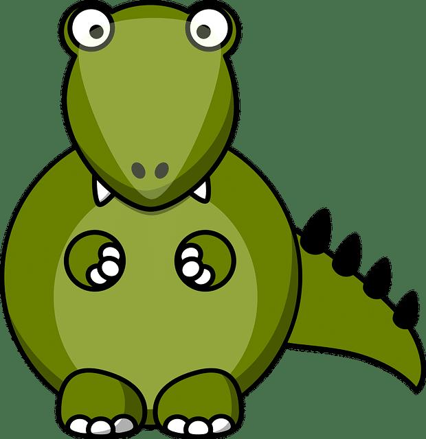 grüner Dinocartoon