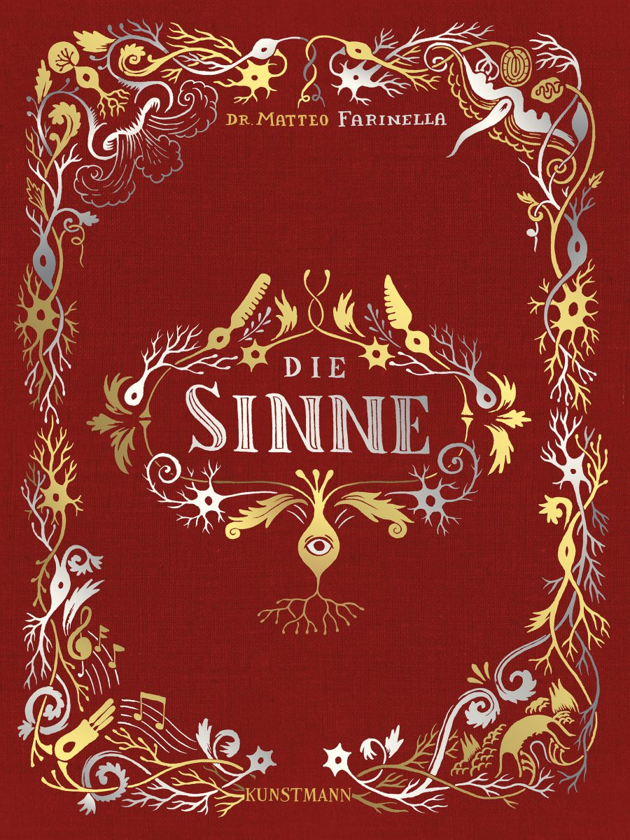 Cover in rot mit goldenen Intarsien