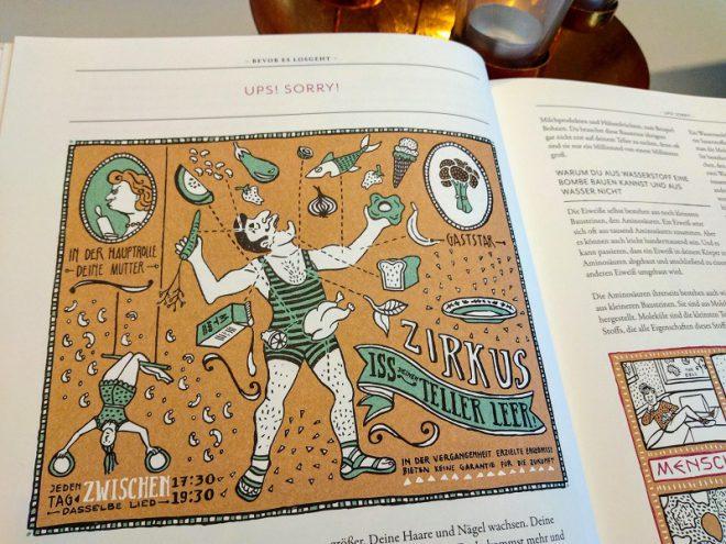 Ausschnitt Seite 18, darauf eine Illustration von Floor Rieder