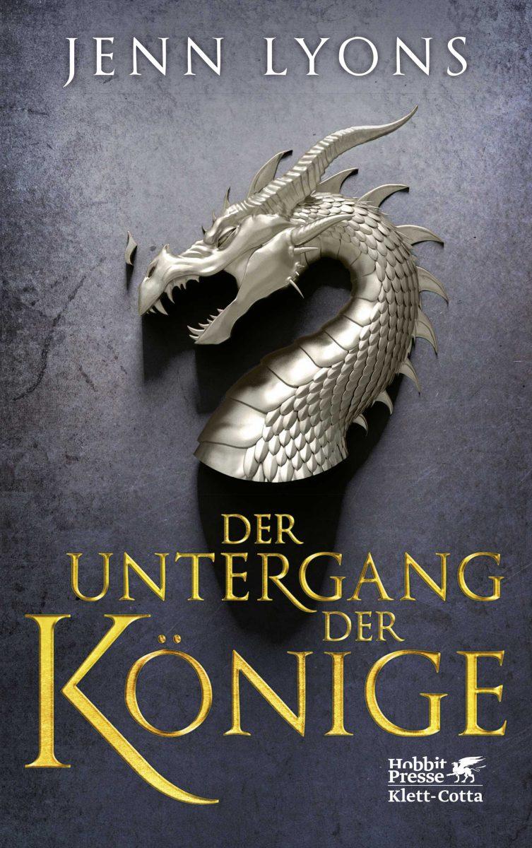 Cover des Buches zeigt einen silbernen Drachenkopf