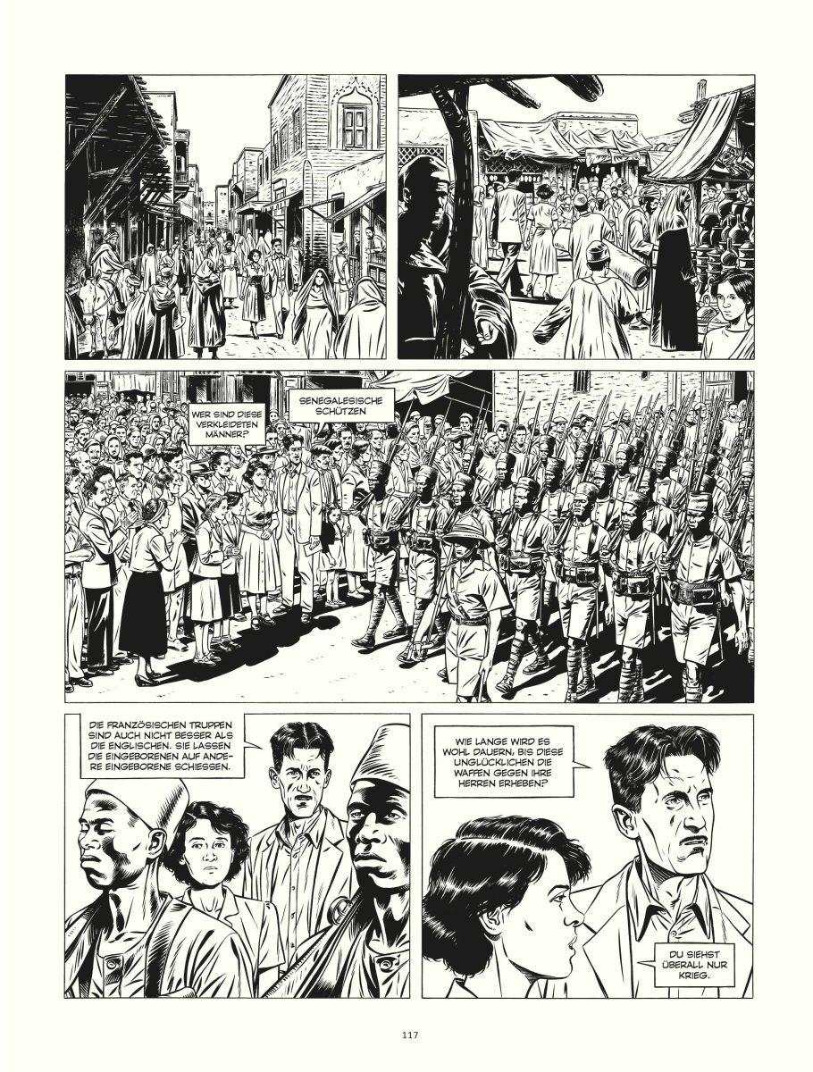 Leseprobe einer Comicseite in schwarz-weiß
